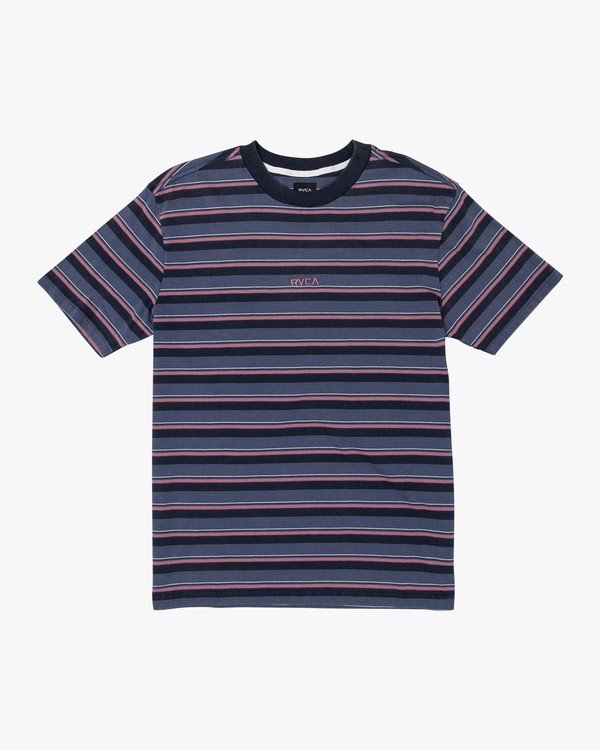 0 Curtis Striped Knit T-Shirt  M908WRCS RVCA
