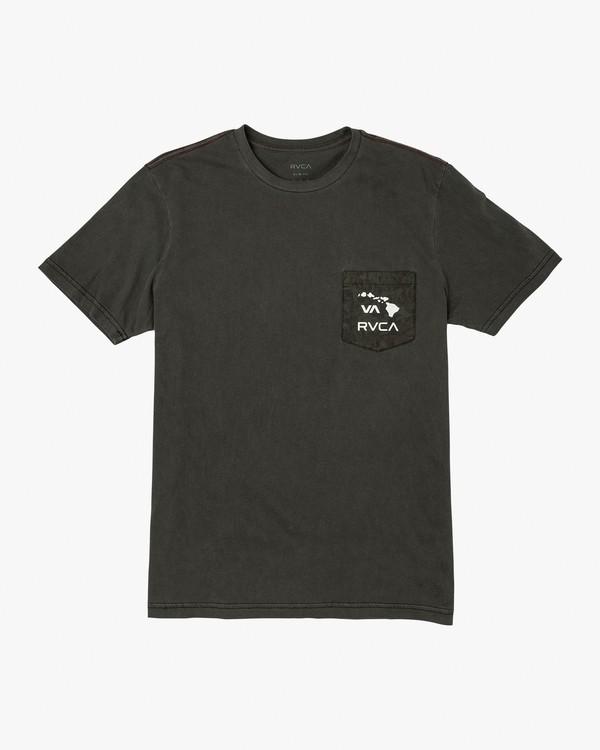0 PTC Pigment Leaf T-Shirt Black M925VRPL RVCA