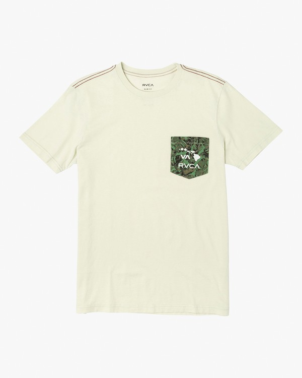 0 PTC Pigment Leaf T-Shirt Silver M925VRPL RVCA