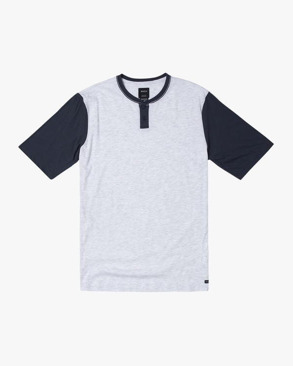 0 PICK UP HENLEY KNIT TOP Blue M9591RPU RVCA