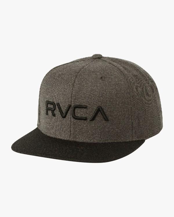 0 RVCA TWILL SNAPBACK III HAT Brown MAAHWRSB RVCA