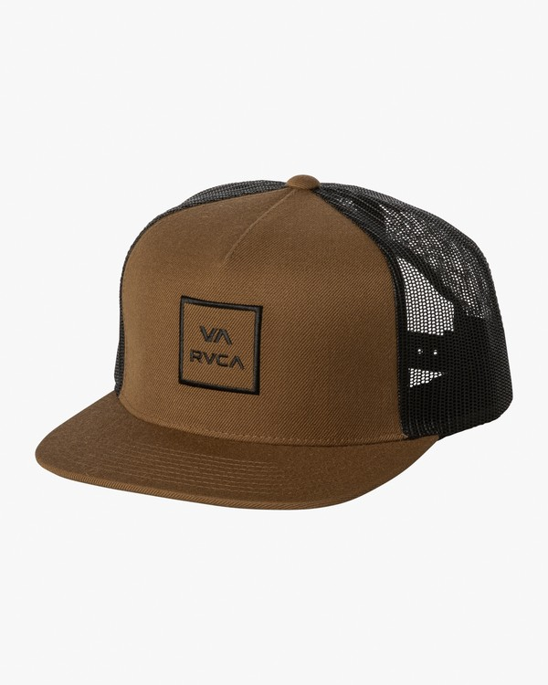 0 VA All The Way Trucker Hat III Brown MAAHWVWY RVCA