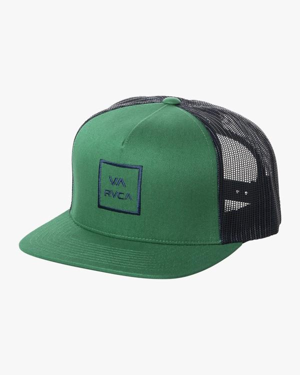 0 VA ALL THE WAY TRUCKER III HAT Green MAAHWVWY RVCA