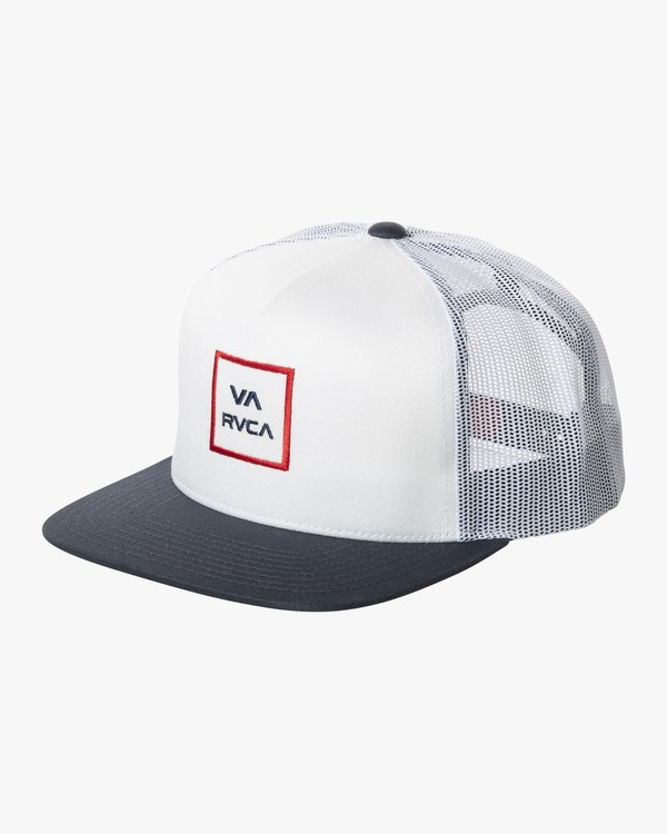 0 VA ALL THE WAY TRUCKER III HAT White MAAHWVWY RVCA