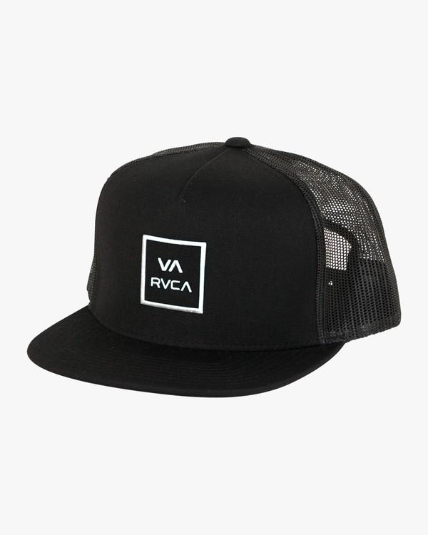 0 VA All The Way Trucker Hat III Black MAAHWVWY RVCA