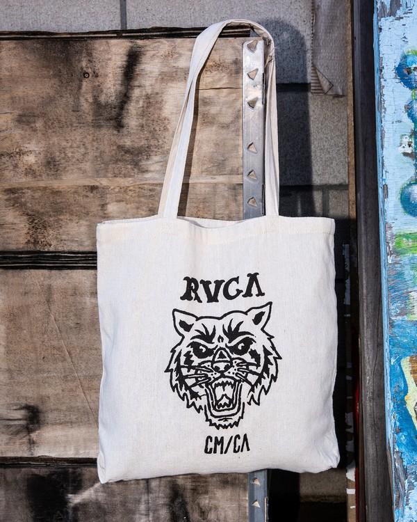 0 Mascot Tote Bag Beige MABGTRME RVCA