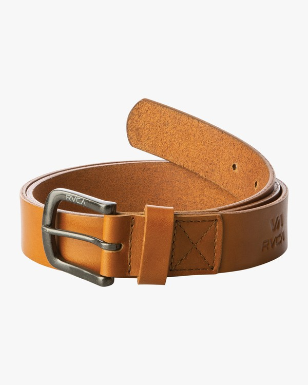 0 TRUCE LEATHER II BELT Beige MABL1RTL RVCA