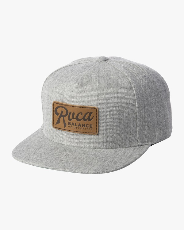 0 STROKES SNAPBACK HAT Grey MAHW1RSS RVCA