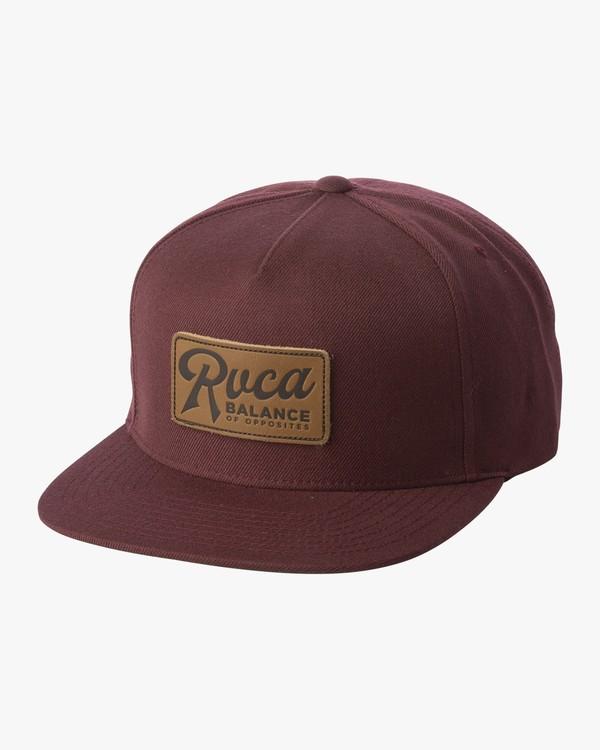 0 STROKES SNAPBACK HAT Purple MAHW1RSS RVCA