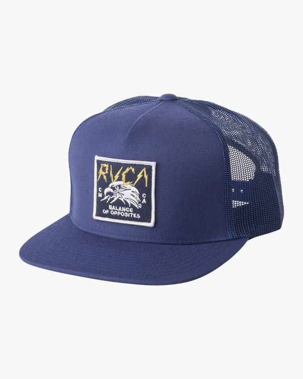 0 STRIKE TRUCKER HAT Blue MAHW1RST RVCA