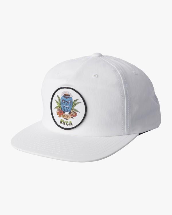 0 DMOTE TIKI SNAPBACK HAT White MAHW1RTS RVCA