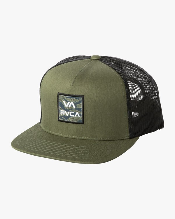 0 VA ALL THE WAY TRUCKER FLORAL Green MAHW1RVT RVCA