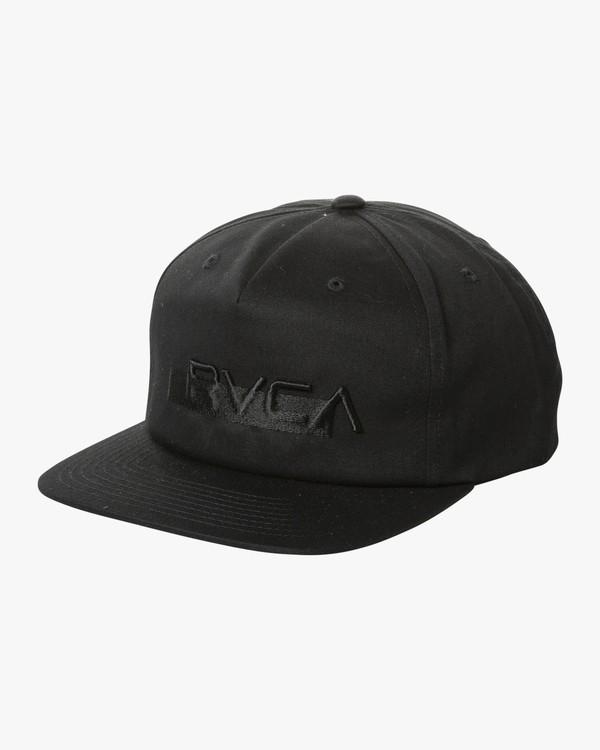 0 OVERLAY SNAPBACK Black MAHW2ROS RVCA
