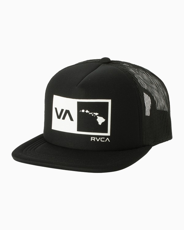 0 Islands Balance Box Foam Trucker Hat Black MAHWMRIB RVCA