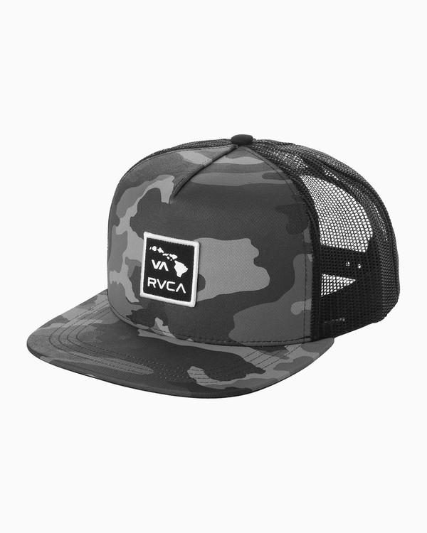 0 Island Patch Trucker Hat Black MAHWNRIP RVCA
