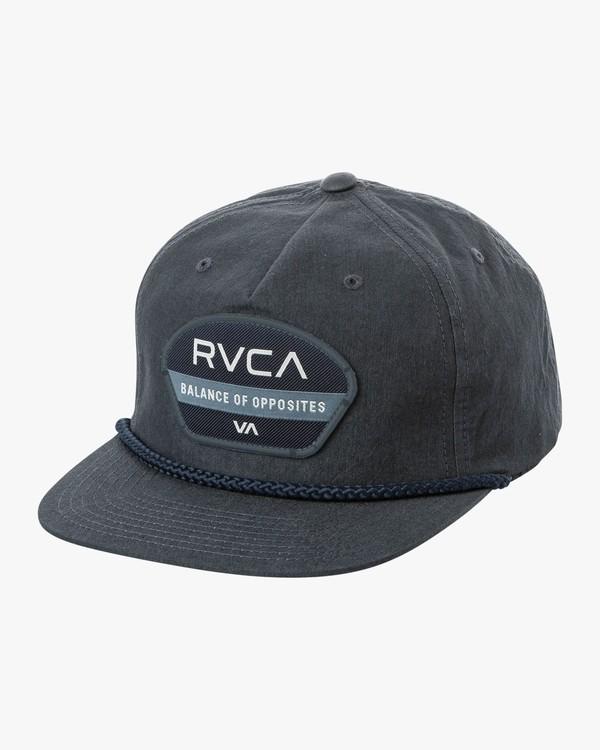 0 Opposite Snapback Hat Blue MAHWQROP RVCA