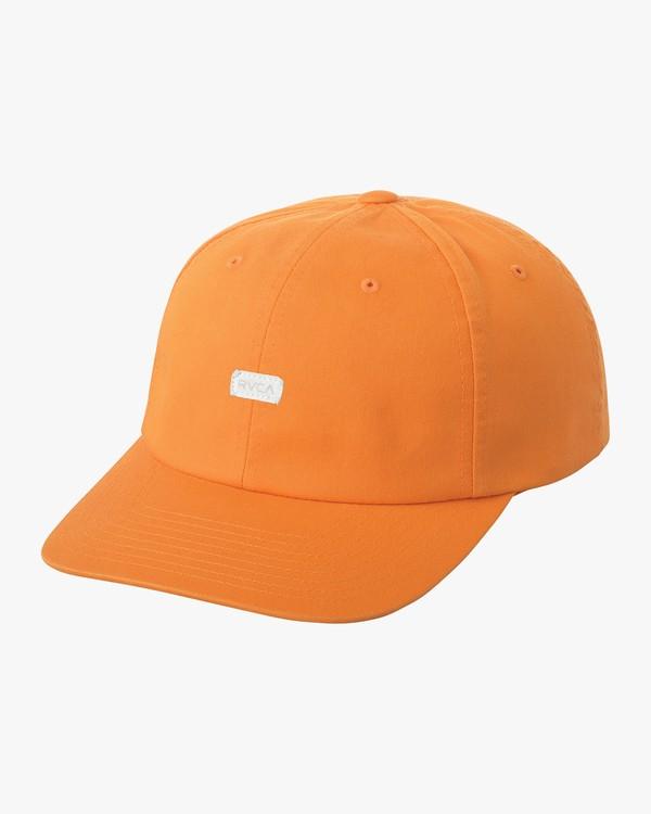 0 Neutral Plus Minus Snapback Hat Orange MAHWQRPM RVCA