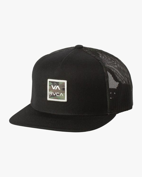 0 VA All The Way Printed Trucker Hat Black MAHWQRTP RVCA