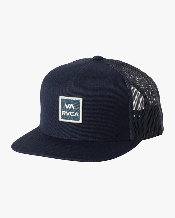 0 VA All The Way Printed Trucker Hat Blue MAHWQRTP RVCA