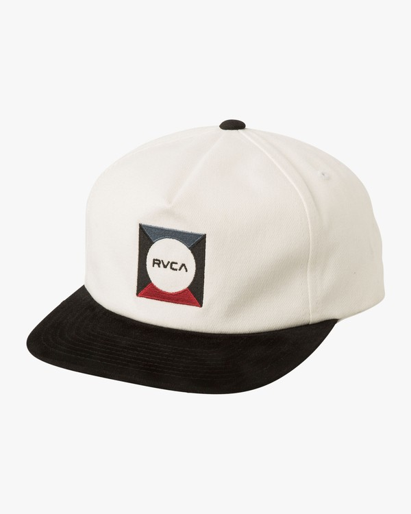 0 Cut Out Snapback Hat White MAHWTRCO RVCA