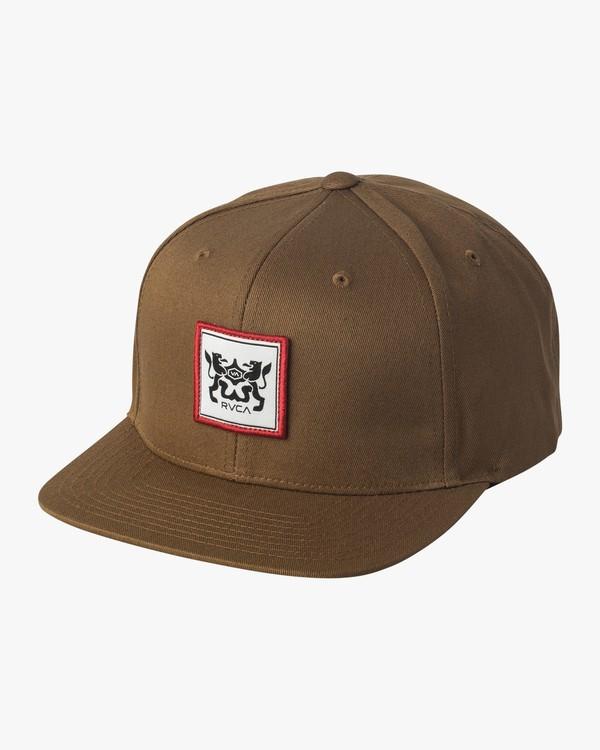 0 Den Snapback Hat Brown MAHWVRDS RVCA