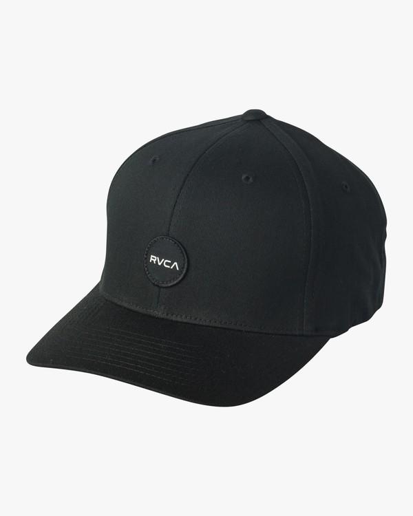 0 Mini Motors Flex Fit Hat Black MAHWVRMM RVCA