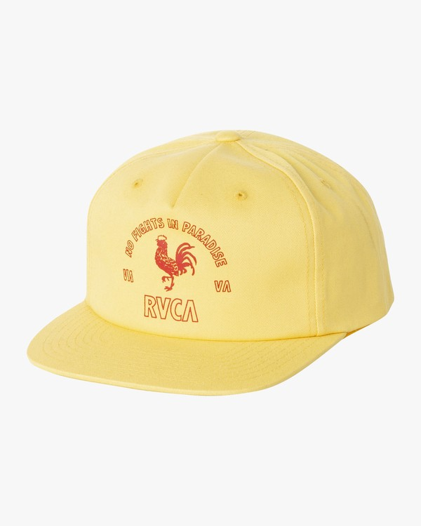 0 Paradise Snapback Hat Yellow MAHWVRPA RVCA