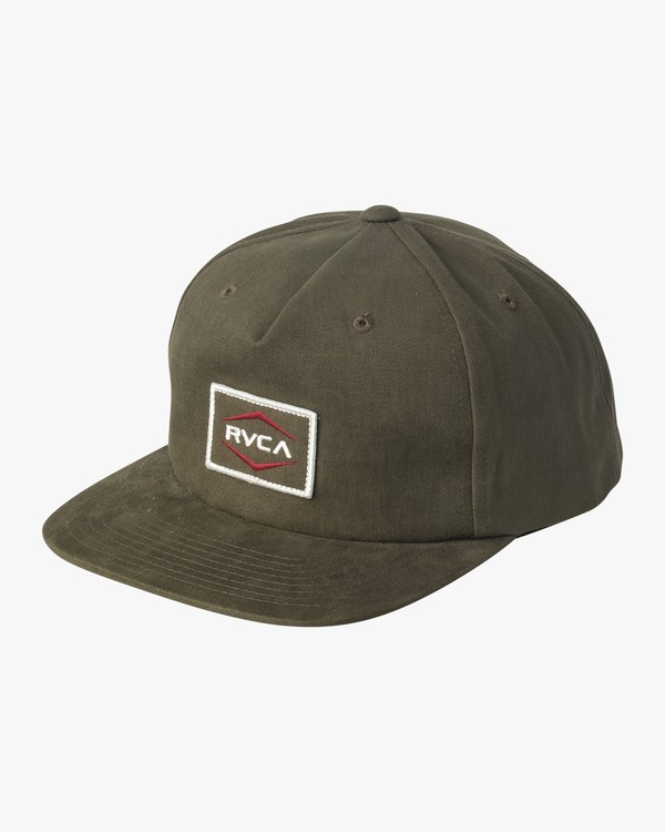 0 Pints Snapback Hat Green MAHWVRPS RVCA
