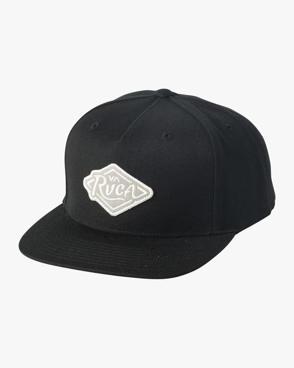 0 Script Snapback Hat Black MAHWVRSP RVCA