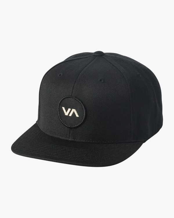 0 VA Patch Snapback Hat Black MAHWVRVP RVCA