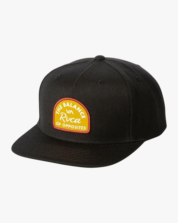 0 Contrast Snapback Hat Black MAHWWRCN RVCA