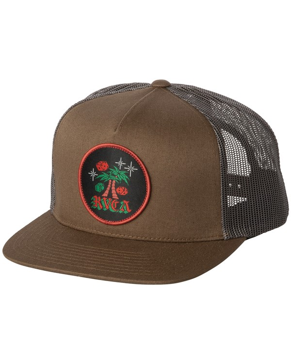 0 Stakes Trucker Hat Green MAHWWRST RVCA