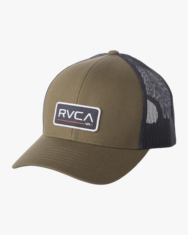 0 TICKET TRUCKER III HAT Green MAHWWRTT RVCA