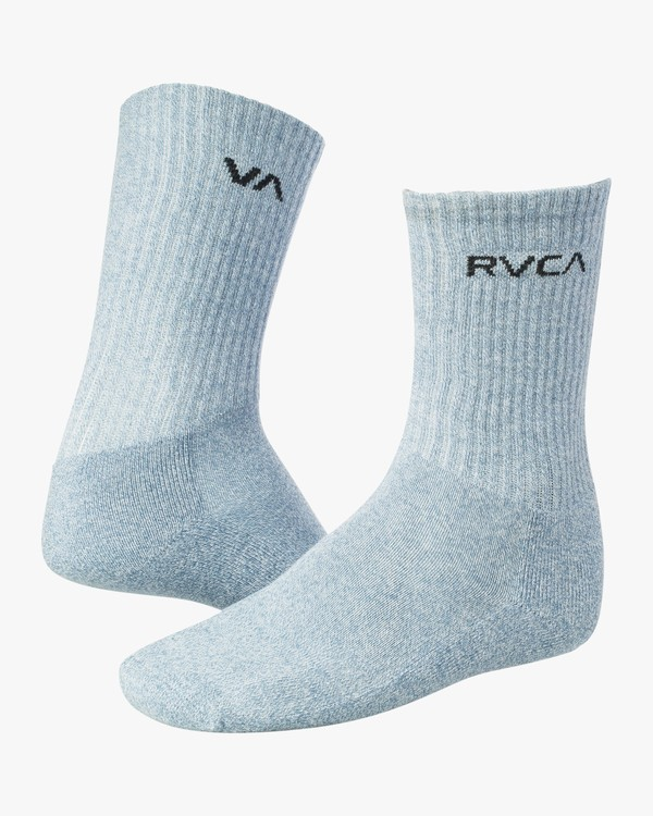 0 Heather Union Crew Socks Blue MASOTRHE RVCA