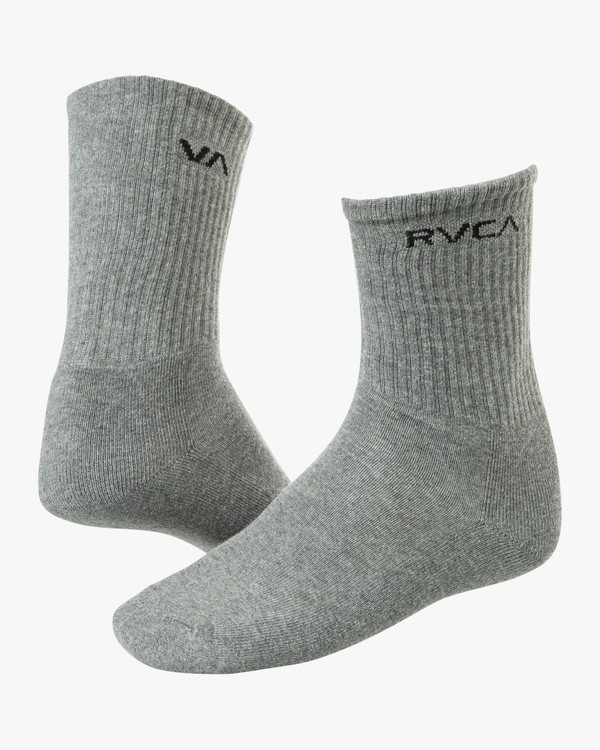 0 Union Square Crew Socks Grey MASOTRUS RVCA