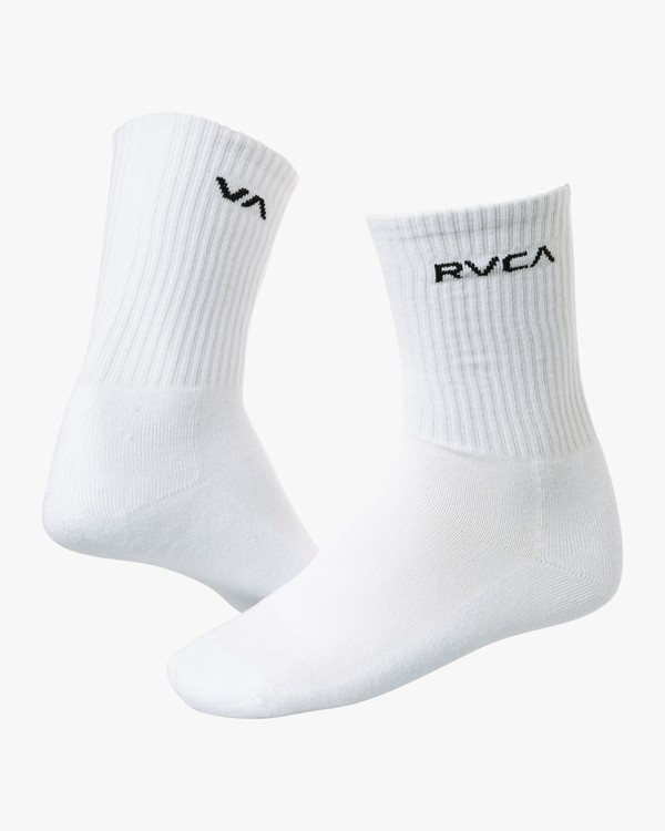0 Union Square Crew Socks White MASOTRUS RVCA