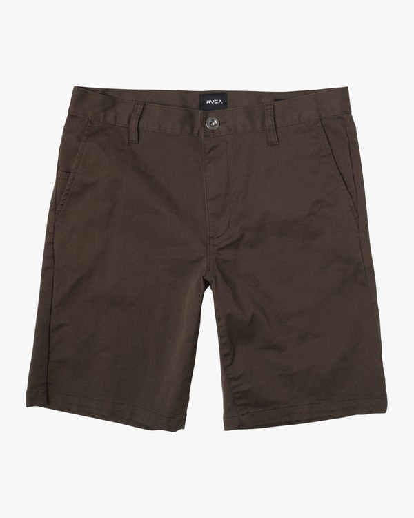 "0 WEEKEND 20"" STRETCH SHORTS Brown MC202WKS RVCA"
