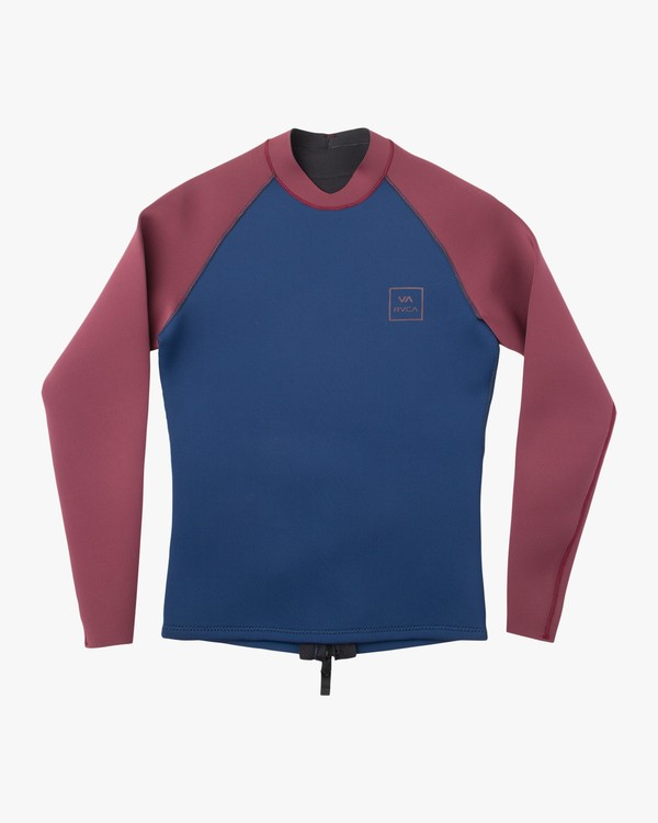 0 Full Neoprene Back Zip Wetsuit Jacket Blue MFWR03FN RVCA