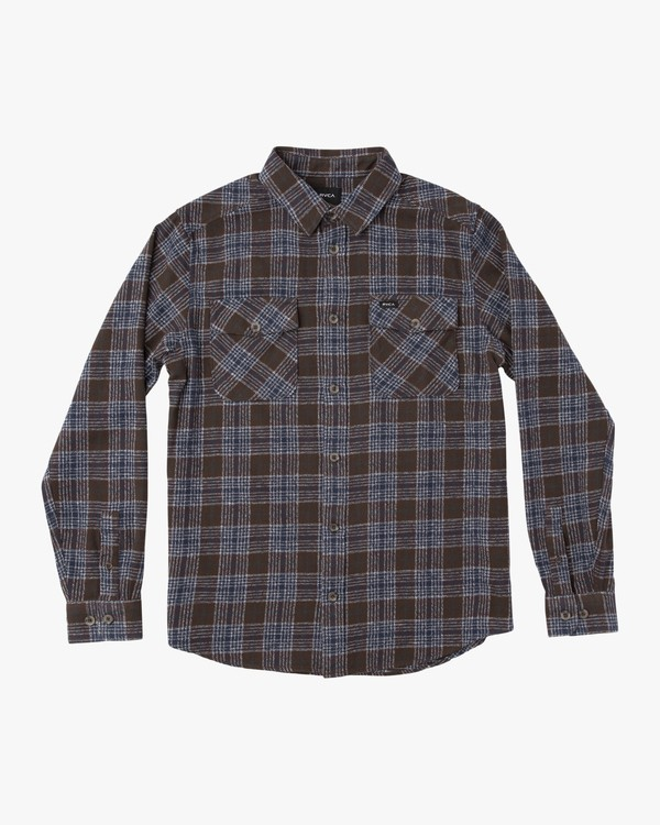 0 That'll Work Flannel Long Sleeve Shirt Brown MG519TWF RVCA