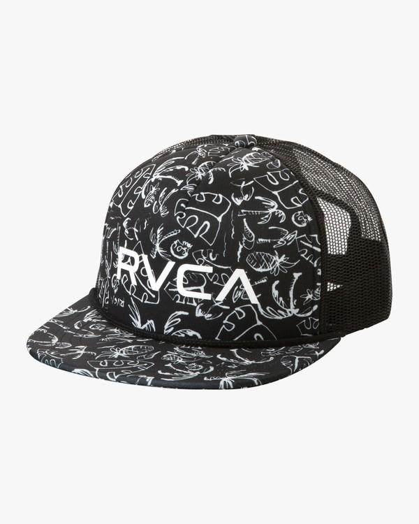 0 RVCA Foamy Trucker Hat Black MGAHWRFT RVCA