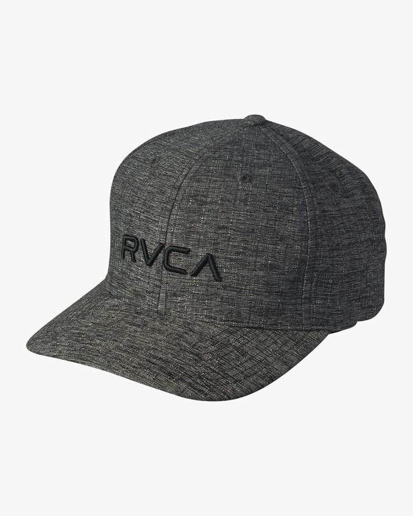 0 RVCA Flex Fit Baseball Hat Grey MHAHWRFF RVCA