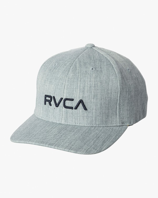 0 RVCA Flex Fit Baseball Hat Blue MHAHWRFF RVCA