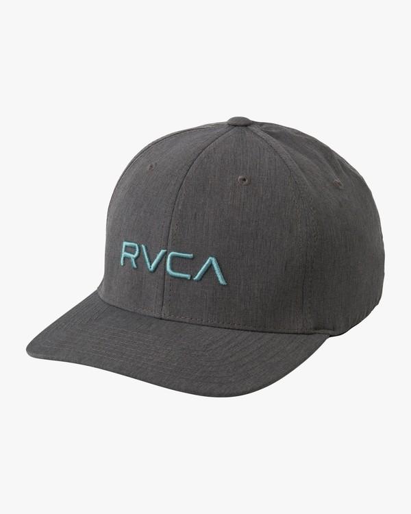 0 RVCA Flex Fit Baseball Hat Brown MHAHWRFF RVCA