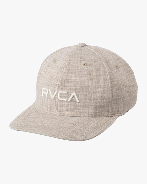 0 RVCA Flex Fit Baseball Hat Green MHAHWRFF RVCA