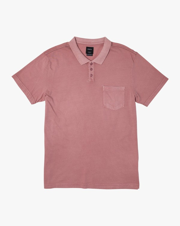 0 PTC Pigment Polo Shirt Pink MK908PPP RVCA
