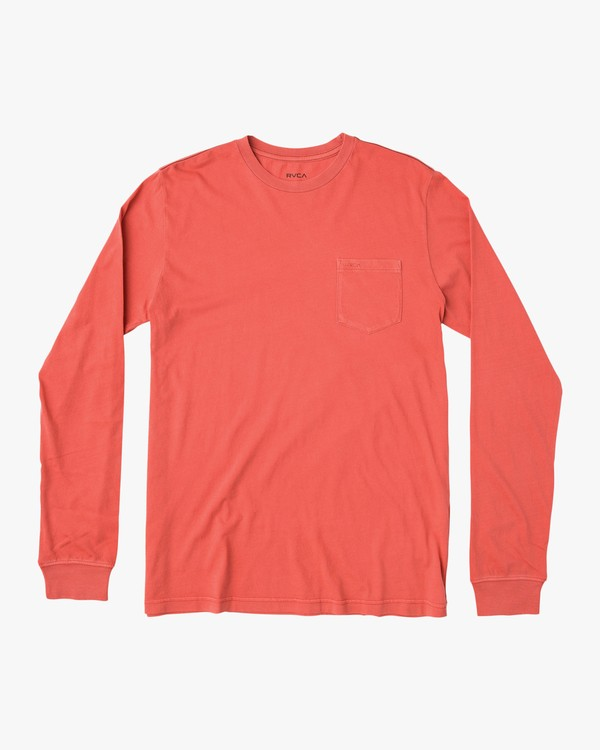 0 PTC Pigment Long Sleeve T-Shirt  ML921PPL RVCA