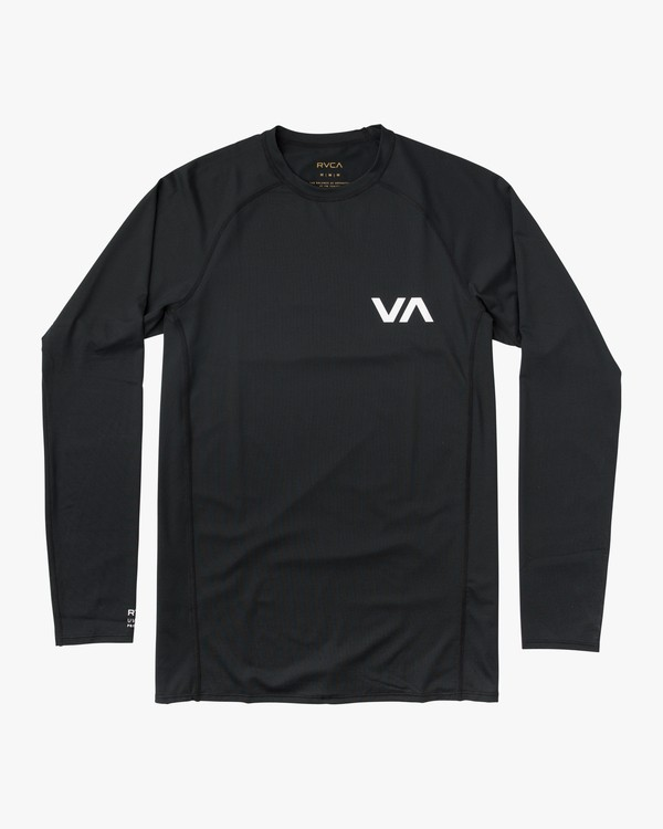 0 Long Sleeve Surf Rashguard Black MR51NRLS RVCA