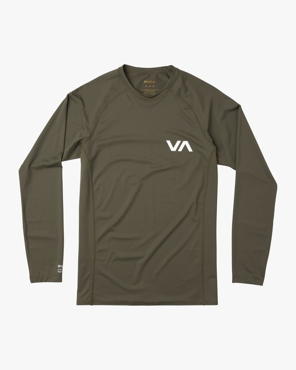 0 Long Sleeve Surf Rashguard Green MR51NRLS RVCA