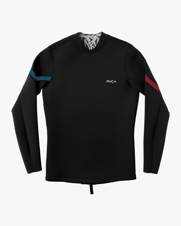 0 Chevron Ancell Back Zip Jacket Black MR56NRCH RVCA