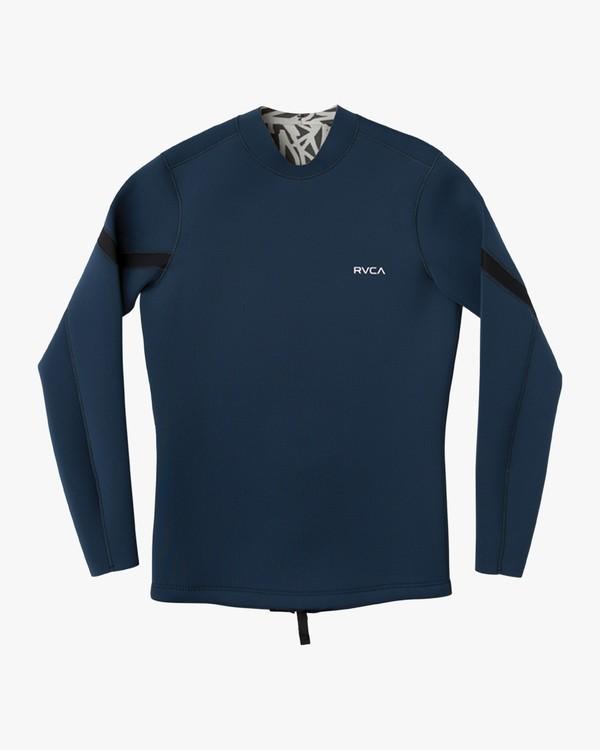 0 Chevron Ancell Back Zip Jacket Blue MR56NRCH RVCA